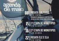 Calendário Náutico de maio Veleiros da Ilha